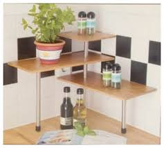 tablette special cuisine etagere d angle bambou tablette d epices cuisine ou plantes