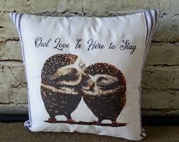 Owls Home Decor Owl Cushion Etsy
