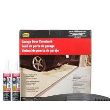 garage door bottom bracket m d building products 20 ft gray garage door threshold kit 50101