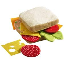 cuisine haba haba sandwich fabric play food toyjeanius