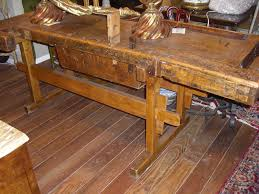 Antique Woodworking Bench For Sale by 19th C Carpenter Work Bench Of Mixed Woods For Sale Antiques