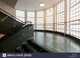 science museum staircase in london with an art deco design built