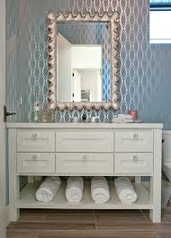 creative how to wallpaper a bathroom for your small home