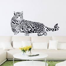 pvc wall stickers cheetah leopard 3d removable wall decals home