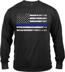 Subdued American Flag With Thin Blue Line Thin Blue Line Support The Police Distressed American Flag Long