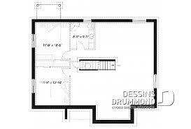 plan de maison 3 chambres salon maison et chalet avec trois 3 chambres plans dessins drummond
