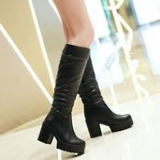 womens boots size 12 and up winter warm mid calf knee boots up to size 12 black 4 warm