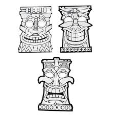 tiki mask coloring pages coloring pages