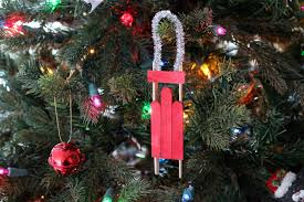diy popsicle stick sled ornament