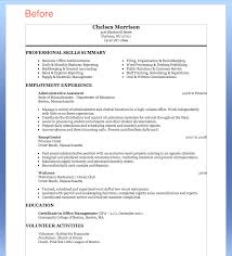 M A Experience On Resume Free Sample Resume For Administrative Assistant Resume Template