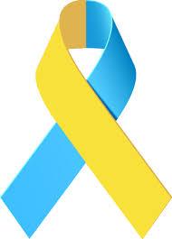 blue and yellow ribbon yellow and blue awareness ribbon tatting and tattoo