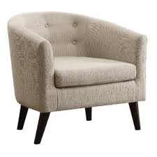 Beige Club Chair Modern Barrel Chairs Allmodern