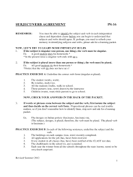 subject verb agreement worksheets 2 free templates in pdf word
