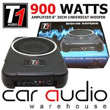 caisson basse sous siege bsw8act 900 watts amplified seat slimline car sub subwoofer