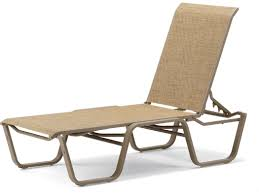 Stack Sling Patio Chair Telescope Casual Fortis Sling Aluminum Lay Flat Stackable Chaise