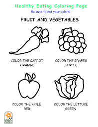 5 best images of healthy eating coloring pages printables free