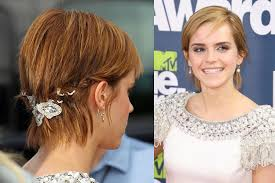 transition hairstyles for growing out short hair emma watson grows out short pixie haircut hair clip en flower