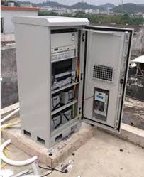 telecom cabinet ip55 with air conditioner or heat exchanger