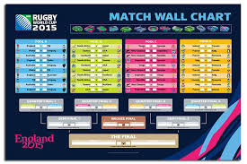 maxi size rugby world cup 2015 match wall chart poster new maxi size 36 x