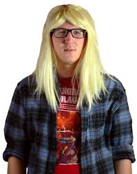 blonde wig halloween costume men u0027s garth long blonde rocker hair party on costume