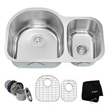 30 inch undermount double kitchen sink kraus kbu21 30 inch undermount 60 40 double bowl 16 gauge stainless