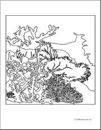 clip art coral reef coloring page i abcteach com abcteach