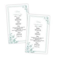 brittany design wedding menu card template u2013 a j u0027s prints