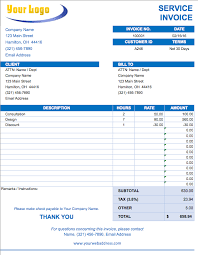 Free Invoice Templates Excel Free Excel Invoice Templates Smartsheet