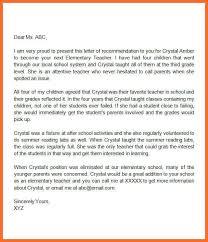 letter of recommendation for teacher sample letter of