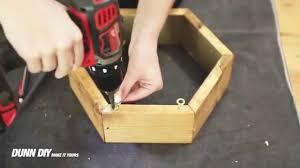 how to make a hexagon shelf youtube