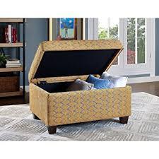 amazon com aniston storage ottoman patterned fabric stylish solid