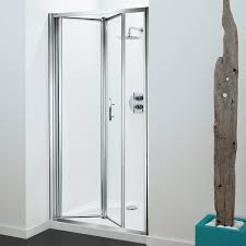 Frameless Bifold Shower Door Coram Optima Bi Fold Shower Door 900mm Wide 4mm Plain Glass