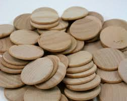 wood disk 1 5 unfinished wood coins unfinished wood discs