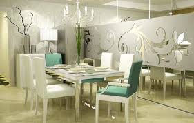 modern dining room decoration classy design landscape green dining