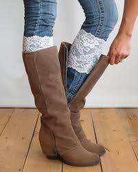 womens size 12 boot socks lace leg warmers flower lace boot cuffs fashion stretch trim