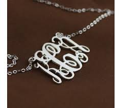 3 Initial Monogram Necklace Sterling Silver 121 Best Name Necklace Images On Pinterest Name Necklace