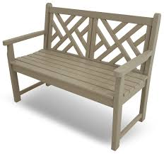 Polywood Sofa Amazon Com Polywood Outdoor Furniture Chippendale 48 Inch Bench