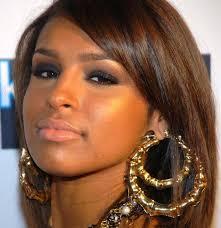 black girl earrings rihanna basketball gold tone heart bamboo joint hoop