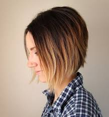 how to cut a aline bob on wavy hair short ombre a line bob haircut hairstyles weekly