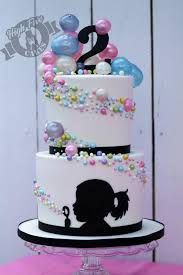 amazing bubble cake by high five cakes w personalized silhouette