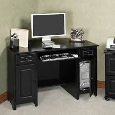 Grey Wooden Desk Furniture Corner Black Wooden Desk With Drawers And Storage Also