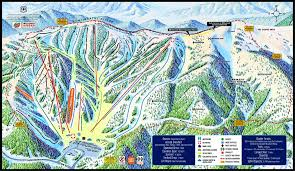 Colorado Ski Map by Monarch Map