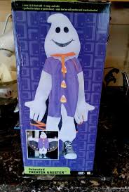 image gemmy 2 feet plus ghost plush door greeter halloween