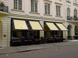 Pub Awnings New Awnings To Isabel Restaurant In Mayfair Morco Blinds