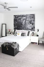 Pink And White Bedrooms - styling a monochrome pink and gold bedroom redagape style
