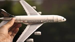 3d paper model airplanes print outs paper replika papercraft singapore airlines airbus a380 youtube