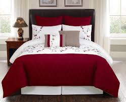 bedroom perfect black and white queen bedding set with floral