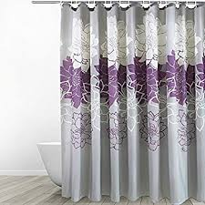Purple And Grey Bathroom Amazon Com Eforgift 72 Inch By 78 Inch Floral Printed Shower