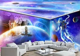 wallpaper for entire wall 3d astronauts universe ceiling entire room wallpaper wall murals art