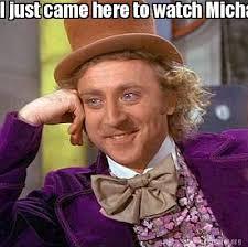 Michael Jackson Popcorn Meme - meme creator i just came here to watch michael jackson eat popcorn